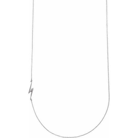 "Lightning Bolt Necklace 16"" - Henry D Jewelry"