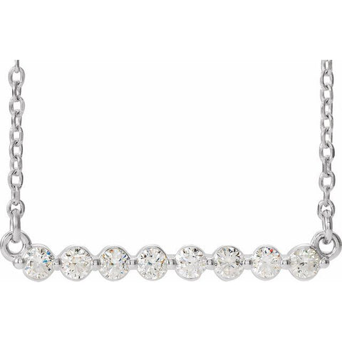 Lab-Grown Diamond Bar Necklace 1/4 ctw 16""