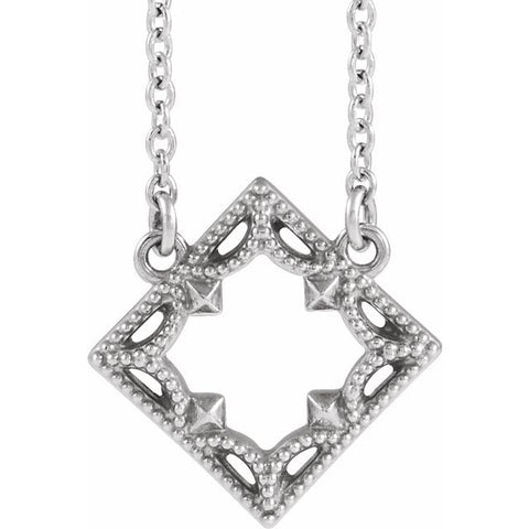 "Vintage-Inspired Geometric Necklace 18"" - Henry D Jewelry"