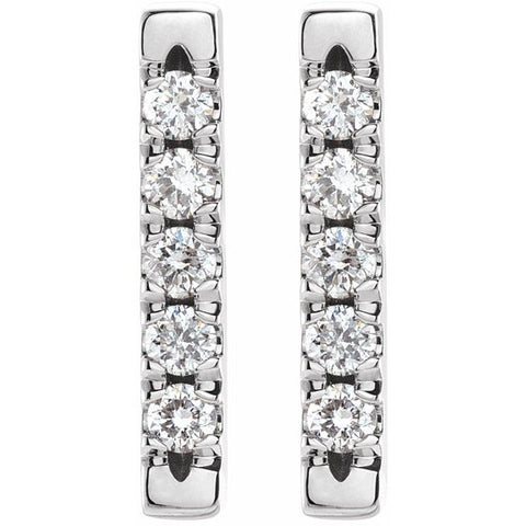 Diamond Bar Earrings 1/8 ctw