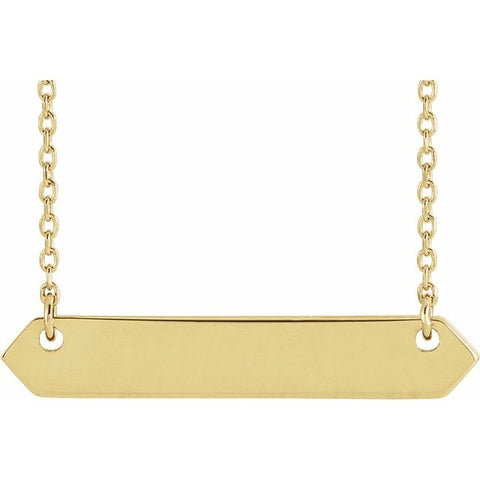 Geometric Engravable Bar Necklace