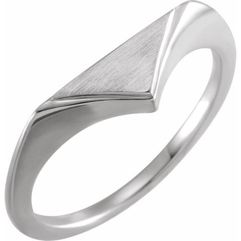 Engravable Geometric Signet Ring
