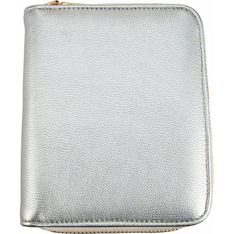 Silver Leatherette Travel Case