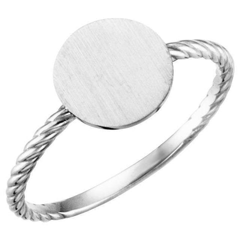 Be Posh® Round Engravable Rope Ring - Henry D