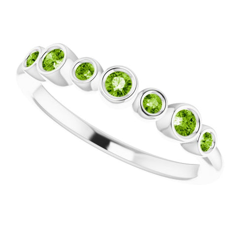 Peridot Bezel-Set Ring