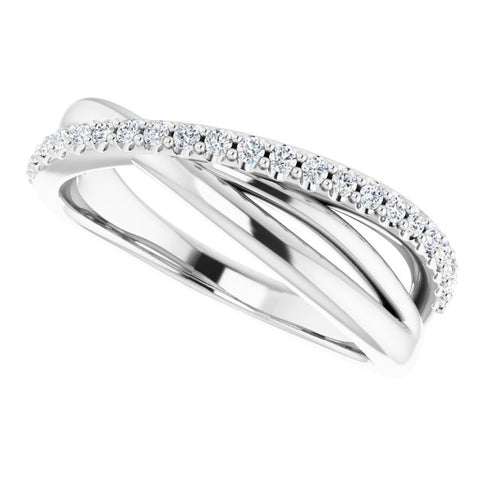 Criss Cross Diamond Ring 1/5 ctw