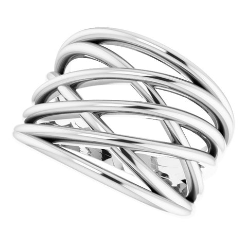 Criss Cross Ring - Sterling Silver