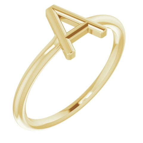 Initial Ring - 14K Yellow Gold