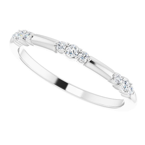 Diamond Stackable Ring 1/8 ctw