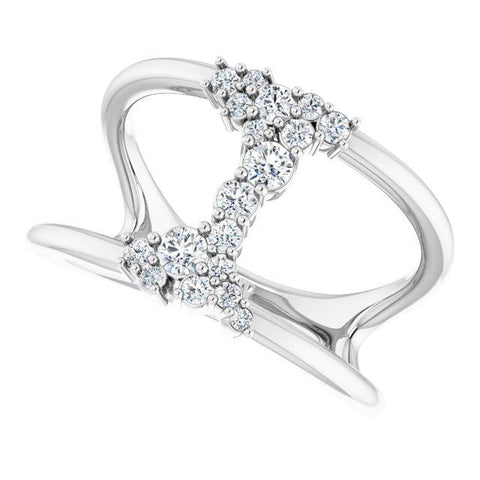 Diamond Negative Space Ring 1/3 ctw - Henry D Jewelry