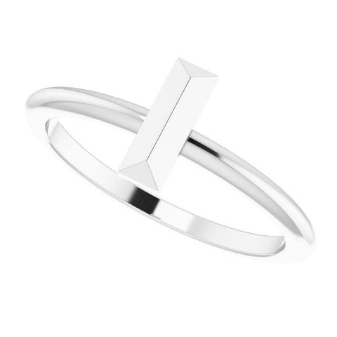 Bar Stackable Ring - Sterling Silver