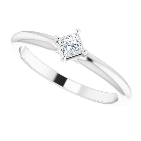 Diamond Solitaire Ring 1/6 ctw