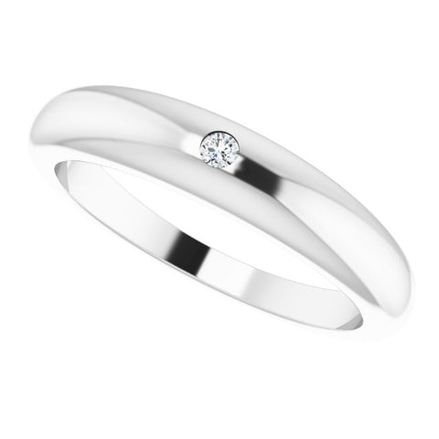 Petite Dome Diamond Ring .03 ctw
