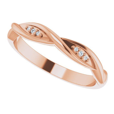 Diamond Stackable Twisted Ring .02 ctw