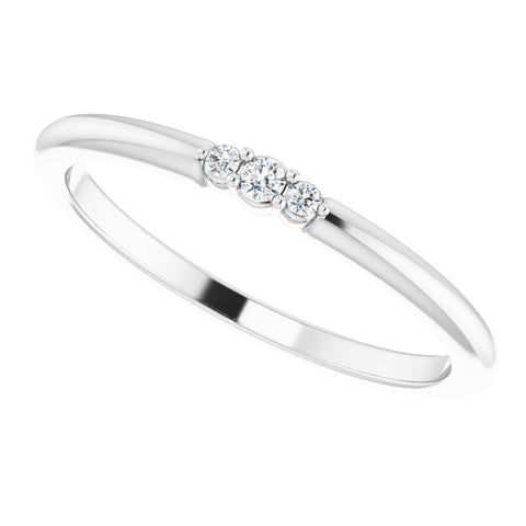 Diamond Stackable Ring .04 ctw
