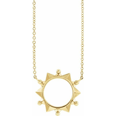 Geometric Necklace - 14K Yellow Gold