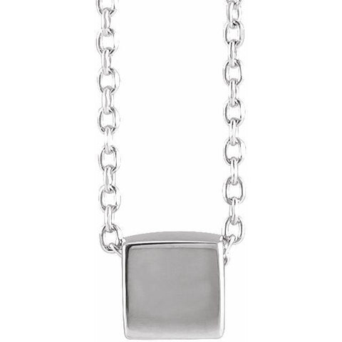 "Cube Necklace 18"" - Henry D Jewelry"