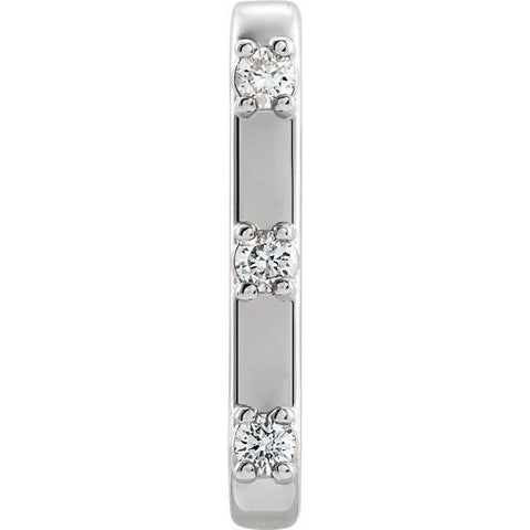 Single Individual Diamond Ear Cuff 1/10 ctw
