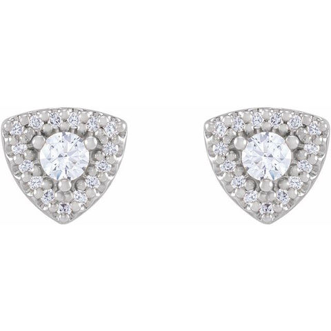 Diamond Halo-Style Earrings 1/3 ctw