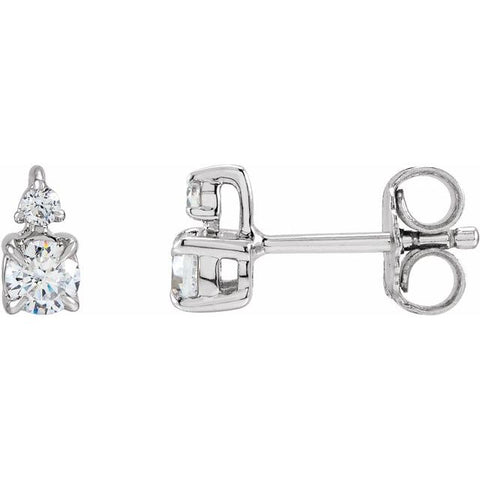 Lab-Grown Diamond Earrings 1/2 ctw -