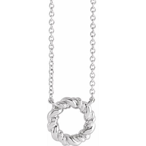 Rope Circle Necklace 18""
