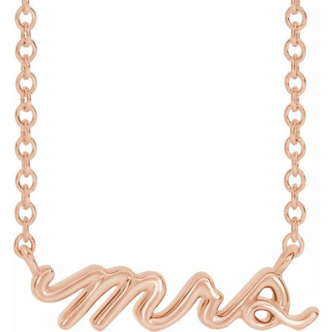 """Mrs"" Necklace 18"""