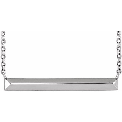 Knife-Edge Bar Necklace 18""
