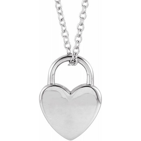 Heart Lock Engravable Necklace