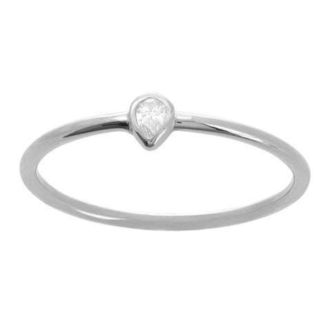 Pear Shape Diamond Ring 1/20 ctw