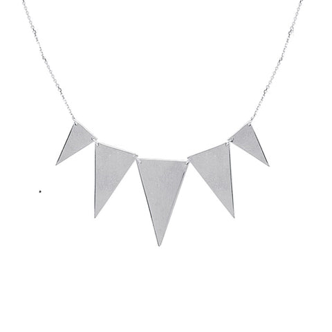 "Graduated Triangle Necklace 18"" - Sterling Silver"