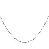 CZ Station Necklace 36""