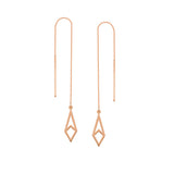 Geometric Drop Chain Threader Earrings