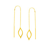 Marquise Disc Chain Threader Earrings
