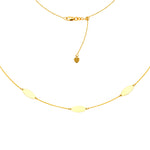 "Marquise Choker Adjustable Necklace 16"" - 14K Yellow Gold"