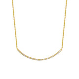 CZ Bar Necklace 16-18""