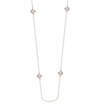 "CZ Station Necklace 36"" - Sterling Silver"