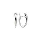 Graduated Oval Huggie Hoop Earrings
