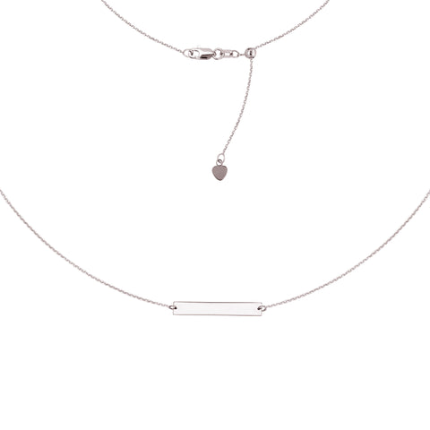 Mini Bar Choker Adjustable Necklace - Sterling Silver