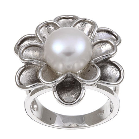 Freshwater Pearl Ring - Sterling Silver
