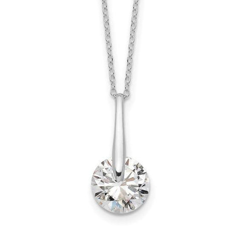 CZ Drop Necklace 16-18""