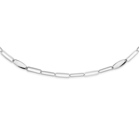 "Paperclip Link Chain Necklace 24"" - Sterling Silver"