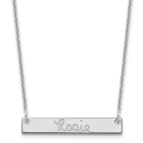 Small Signature Bar Necklace