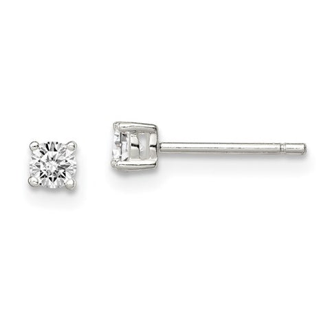 CZ Stud Earrings - Sterling Silver