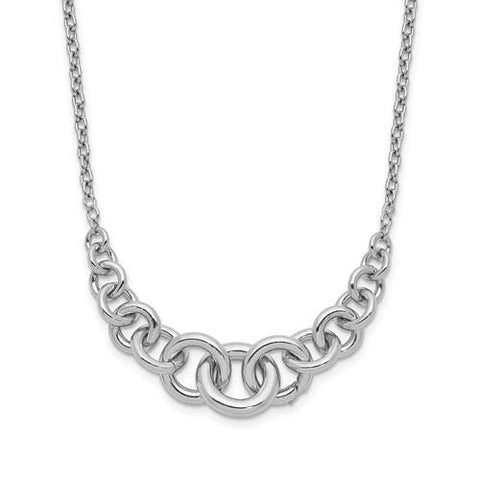 Circles Necklace - Sterling Silver - Henry D