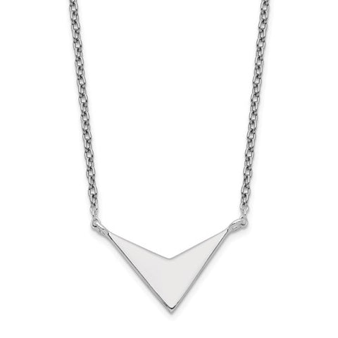 V Necklace - Sterling Silver