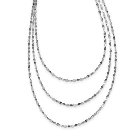Multi-Strand Necklace - Sterling Silver
