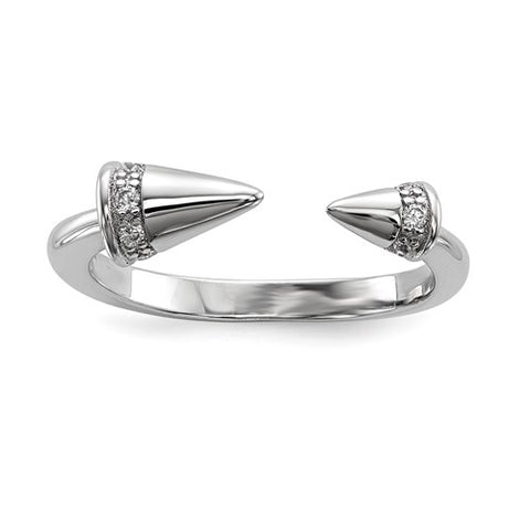 Spike CZ Ring - Sterling Silver