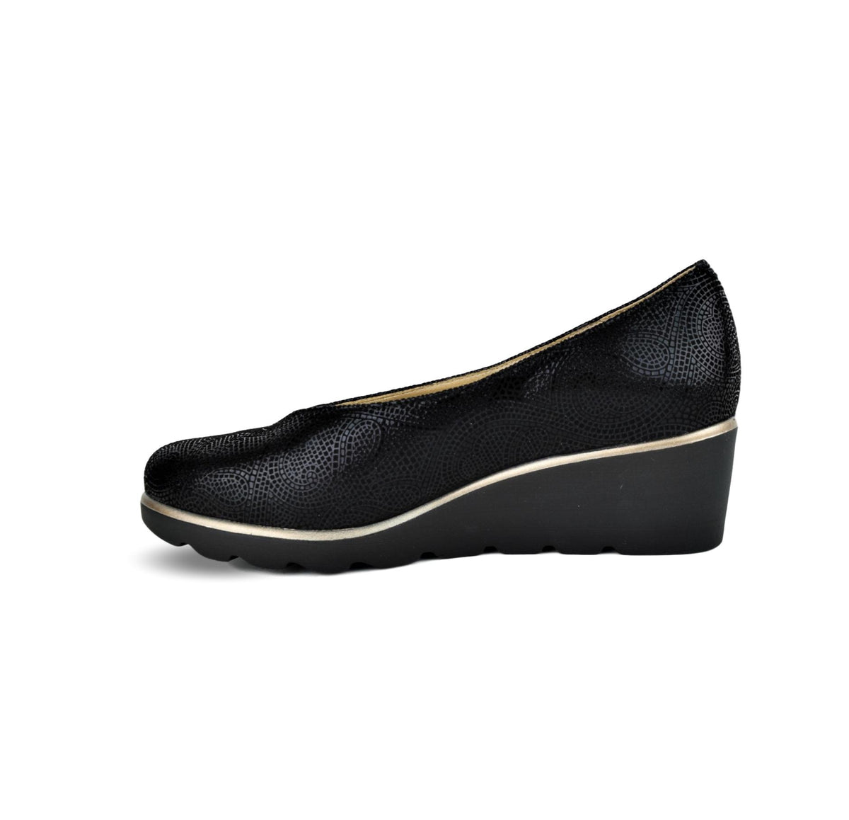MARINA - Dchicas Closed Wedge Black Print