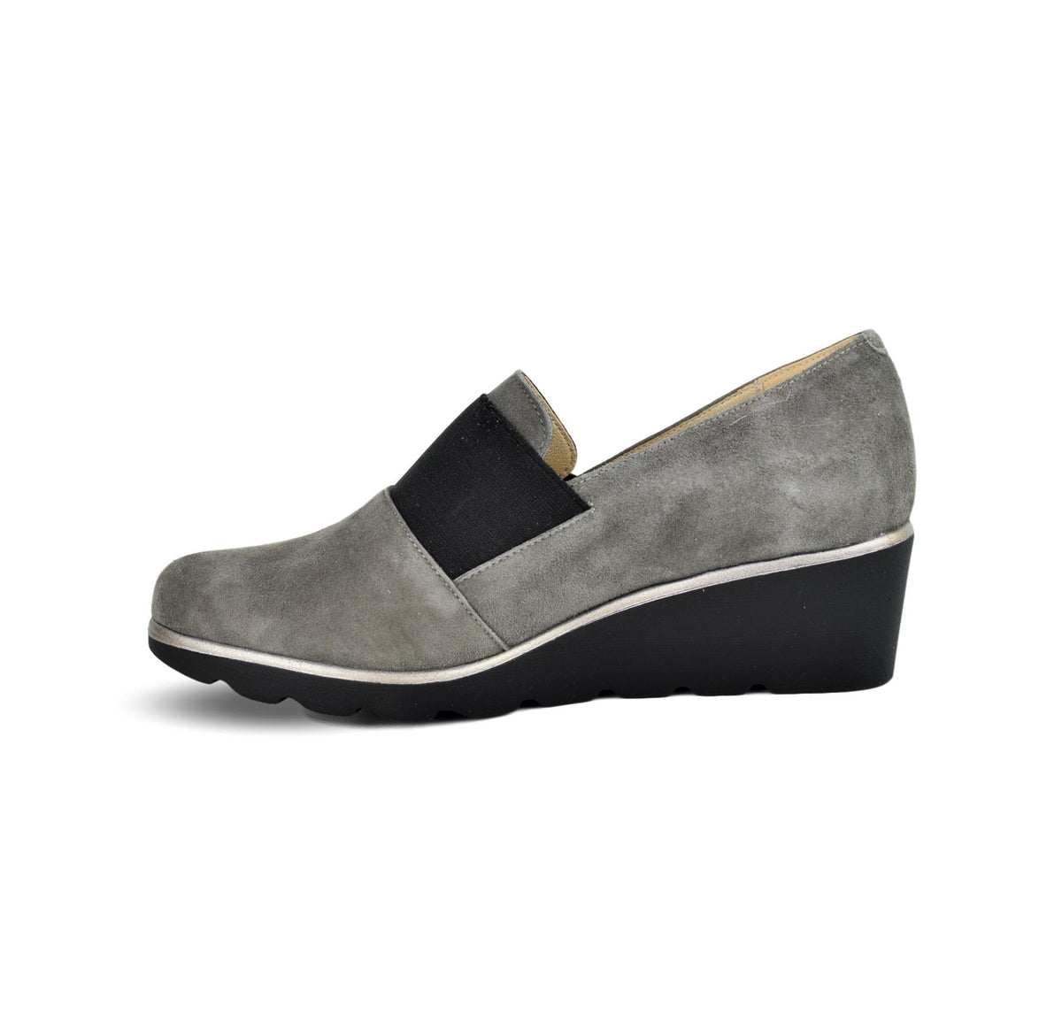 MERCHE - Dchicas Closed Wedge Grey Suede