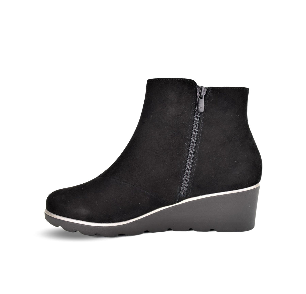 TIERRA - Dchicas Wedge Ankle Boot Black Suede